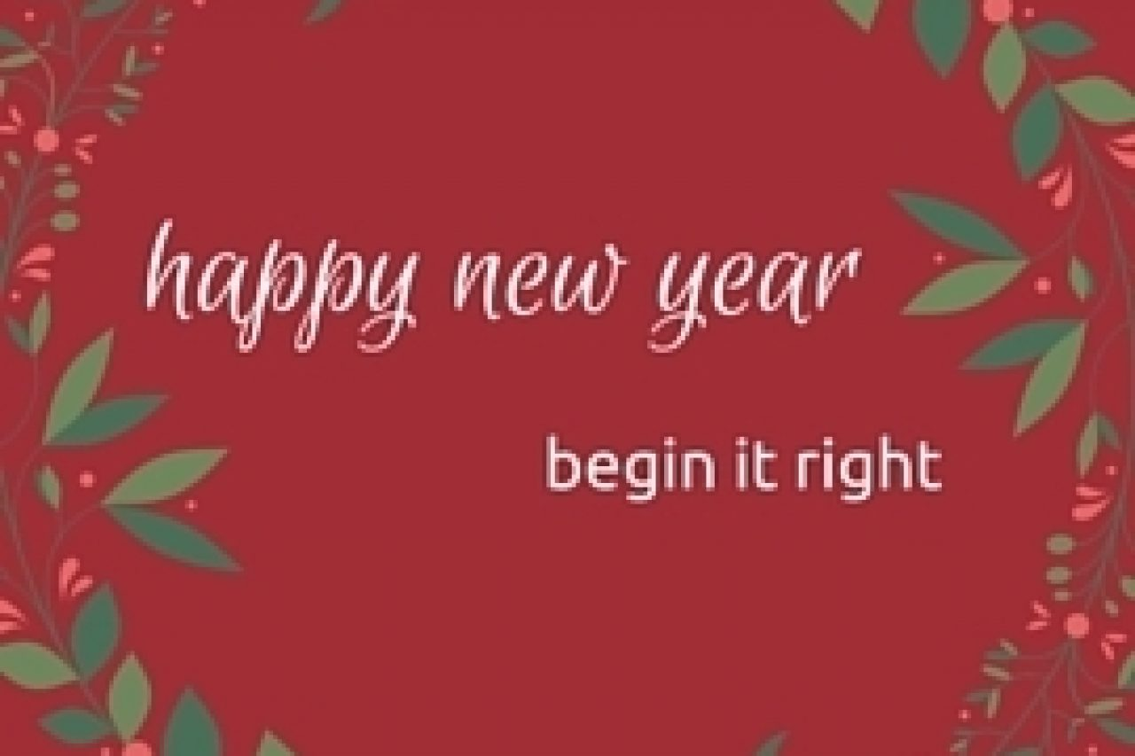 happy new year start it right